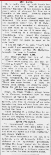 Buried Four Days and Terribly Hurt He Returns Home Part 3 London Advertiser June 29 1916 Page 13