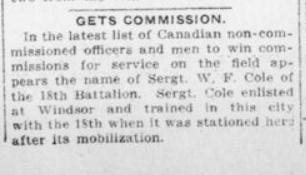 Gets Commission London Advertiser July 24 1916 Page 2
