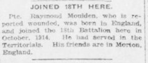 Joined 18th Here Advertiser September 29 1916 Page 3