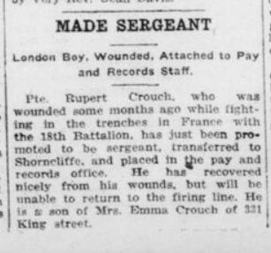 Made Sergeant London Advertiser September 18 1916 Page 2