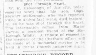 Shot Through Heart London Advertiser September 28 1916 Page 11