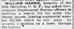 William Harris London Advertiser November 1 1921 Page