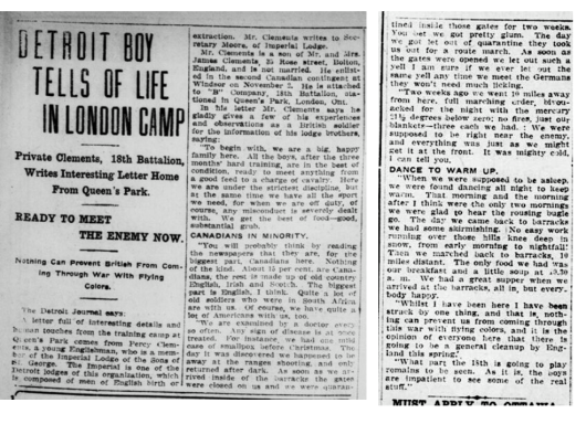 Source: Operation Picture Me via The 18th Battalion Facebook Group. London Free Press Circa 1914.
