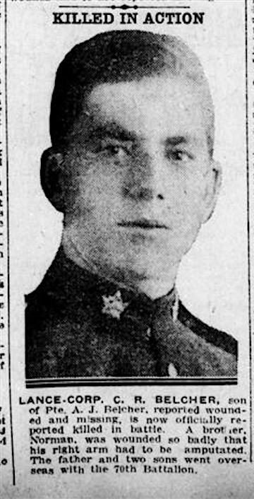 Source: Operation Picture Me via The 18th Battalion Facebook Group. London Free Press. September 14, 1917.