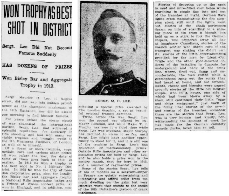 Free Press November 27 1916 Sergeant Lee