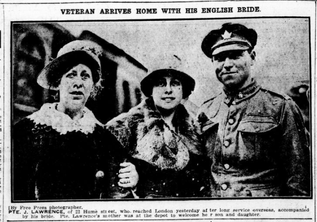 Veteran Arrives Home With His English Bride London Free Press May 26 1919 Page 2