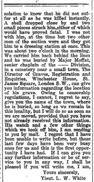 Death of Andrew Archibald No 2 Huron Expositor May 11 1917 Page 1