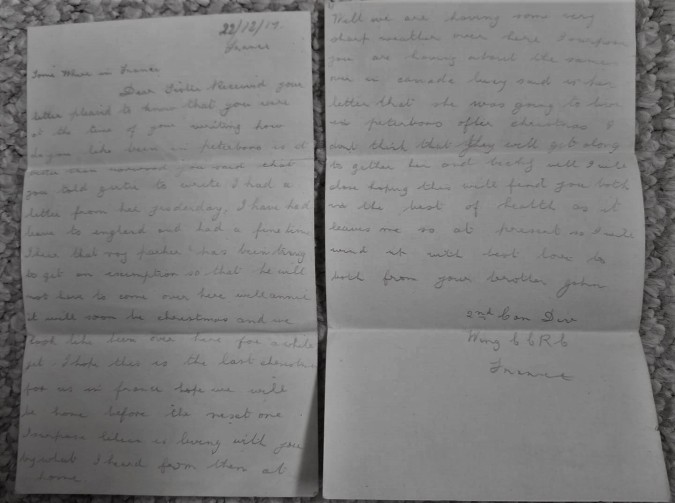 December 22 1917 Letter