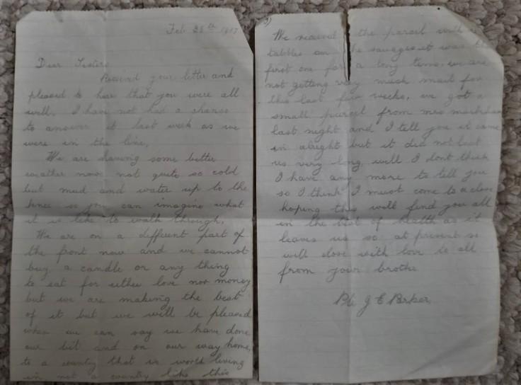 February 28 1917 Letter