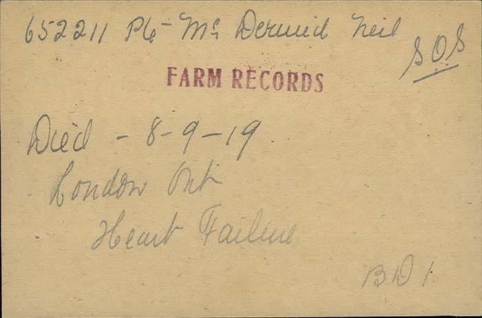 Farm records McDermid