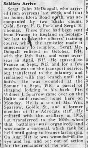 Paisley Advocate, February 12, 1919