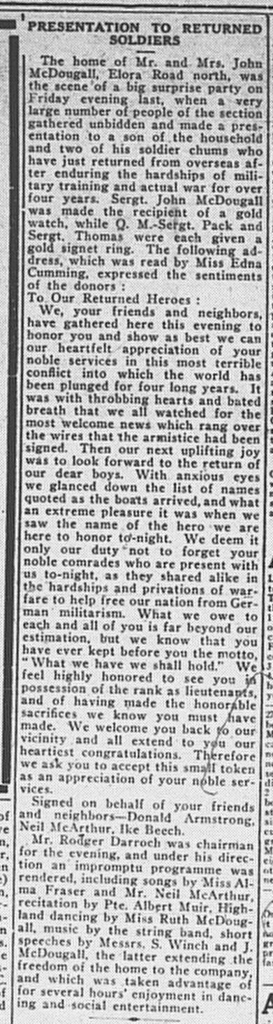 Paisley Advocate, February 19, 1919