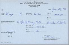 Death Notification George Robert 928816