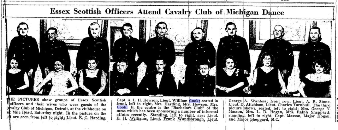 Essex Scottish Officers Attend Cavalry Club of Michigan Dance The Border Cities Star February 1 1932 Page 3