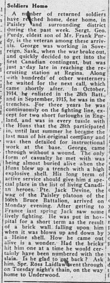 Paisley Advocate, March 5, 1919 (1)