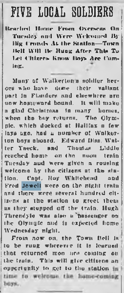 Walkerton Telescope Fred Jewell December 19 1918 Page 1