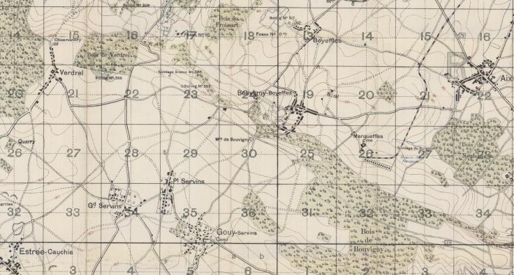 Bouvigny Woods Map