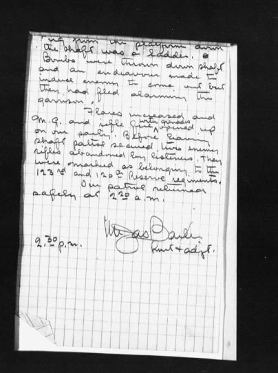 Report on Patrol July 3 1916 18th Battalion 4th CIB Appendix 4 Page 2