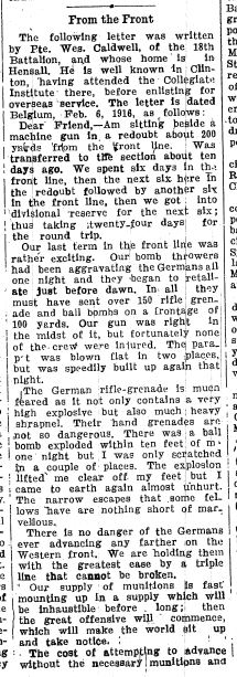 Huron Expositor. March 10, 1916. Page 1.