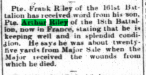 Private Frank Riley The Signal February 17 1916 Page 1