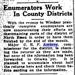 Enumerator Work in County Disctricts The Border Cities Star June 22 1921 Page 6